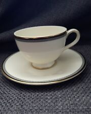 ROYAL DOULTON 1987 English fine China OLYMPIA footed cup saucer Made in England