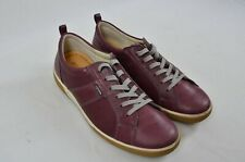Ecco Chase Bordeaux Old West Lace Low Cut Leather Shoes UK Size 6