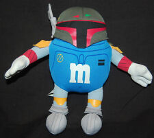 "Star Wars Mpire M & M Blue Boba Fett Hasbro Chocolate 2005 Plush 7"" Toy 85780"