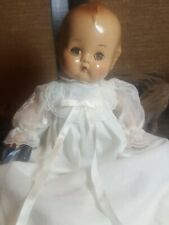 12.5� Antique Baby Doll Compo Late 1930s Dressed In Long Gown w/Bloomers&booties