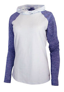 Under Armour Women's Oxford Blue UA Mileage Long Sleeve Fitted Hooded T-Shirt