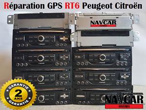 Autoradio RT6 RNEG2 Réparation GPS Peugeot Citroën Garantie 2 ans