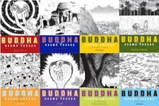 Buddha MANGA Series by Osamu Tezuka Collection Set of Paperback Volumes 1-8
