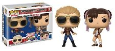 Capcom Marvel Captain Marvel vs Chun-Li Official Funko Pop! Vinyl Figure set