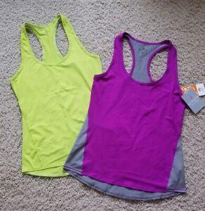 Athleta Colorblock Chi Running Tank Tops Sports Shirts Women's Size S (Lot of 2)