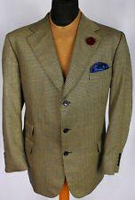 Burberry Blazer Jacket Cream Blue Lightweight Silk & Wool 46R AMAZING 3065