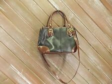 Relic Hand Bag Crossbody Purse Shoulder Black with Brown Trim
