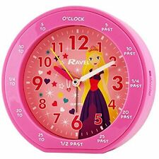 RAVEL KIDS PINK PRINCESS ROUND TIME TEACHER ALARM CLOCK RC007.05B