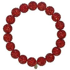 KIRKS FOLLY FAIRY-FIREBALL-CRYSTAL-BALL-STRETCH-BRACELET  RED