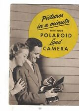Pictures in a Minute with Your Polaroid Land Camera Booklet 1950s
