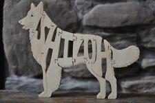 Shiloh Shepherd Dog Wooden Amish Made Toy Puzzle Art Figurine