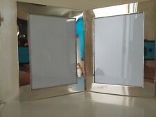 PHOTO FRAME DOUBLE HEAVY SILVER AND GLASS, FOLDING.