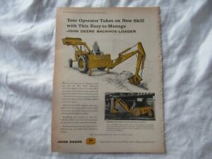 1959 John Deere backhoe-loader print AD
