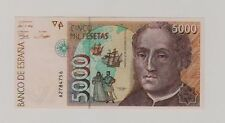 Spagna Spain 5.000 5000 pesetas Serie A    1992 FDS UNC Pick 165 lotto 89