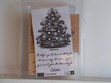 2006 Stampin Up Retired O Tannenbaum Christmas Tree Candles Verse