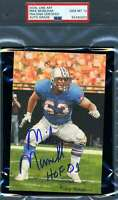 Mike Munchak Gem Mint 10 HOF 01 PSA DNA Slab Signed Goal Line Art Card Autograph