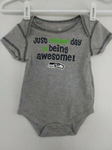 Seattle Seahawks Just Another Day Of Being Awesome! 3/6 Months Bodysuit NWOT