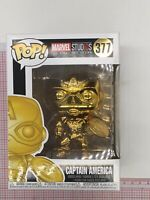 Funko Pop! Marvel The First 10 Years Captain America Gold #377 NOT MINT F02
