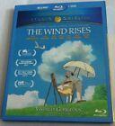 The Wind Rises Blu-ray/DVD W/ OOP SLIPCOVER Studio Ghibli Disney Hayao Miyazaki