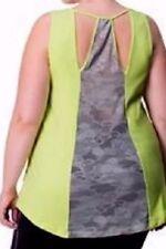 plus sz S-M (18-20)  Activewear Rainbeau Curves Singlet Gym Top NWT!