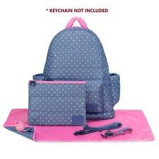 Designer Backpack Baby Diaper Bag CiPu Eco 9 Pieces Combo Set Lalaya Polka Dots
