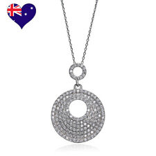 Venus Stone Rhodium Plated Cubic Zirconia Necklace