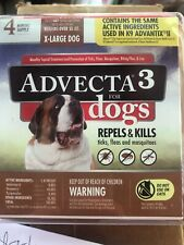 Advecta 3 for X-Large Dogs over 55 lbs, 4 Month Supply Sealed Flea Treatment