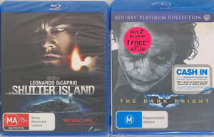 2 Blu Ray Bundle Shutter Island, Dark Knight PAL New/Sealed Sent Tracked