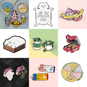 Pin Brooches Backpack Badges Meow Cat Hard enamel lapel Hat Gift Bag Goth Jeans