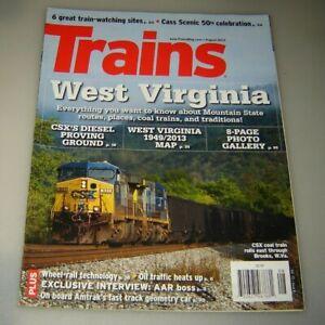 Trains Magazine 2013 August West Virginia Routes places coal trains traditions