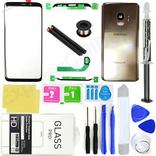 Samsung Galaxy S9 G960 -OEM Gold- Front Screen Glass Back Replacement Kit