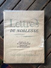 Lettres de noblesse CURNONSKY 1935 Litho LEGRAND