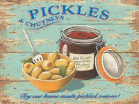 Vintage Style Metal Sign Pickles Chutney's Kitchen Wall Picture Farm Shop Gift