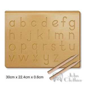 Trace Wooden Writing Practice Board Alphabet A-Z Preschool toy Pencil Kids Gift