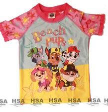 Girls Swimming Top Beach Pups Character T Shirt Paw Patrol Bday Gift 4-8 yrs