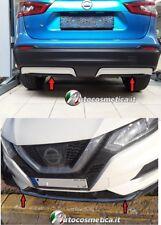Spoiler paraurti per Nissan Qashqai 17-19 anteriore+posteriore acciaio cromo