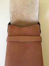 Polaroid SX 70 Alpha 1 Land Camera Tan Leather Case Pouch Retro Purse Brown