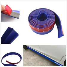2.5m Blue Car Front Bumper Anti-scratch Protection Pad Spoiler Valance For Ford