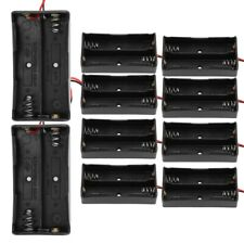 10pcs Battery Case Holder Storage Box with Wire Leads For 18650 Batteries 3.7V