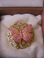 "SWAROVSKI ""BEAUTY"" BUTTERFLY BROOCH/PIN 2002** NEW AND GORGEOUS"