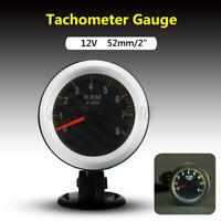 UNIVERSALI 2'' 52MM MOTO AUTO LED DIGITAL TACHIMETRO RPM CONTAGIRI MANOMETRO /