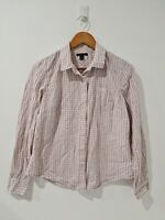[ TOMMY HILFIGER ] Women's Button Up Checked Shirt Long Sleeve | Size L
