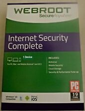 Webroot SecureAnywhere AntiVirus 1 Device GLOBAL Key PC 1 Year Instant Ship