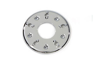 5-Hole Outer Clutch Pressure Plate Chrome, Fits Harley FL 1941-1984, FX 1971-84