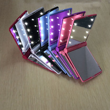 Makeup Compact Mirror Cosmetic Folding Portable Pocket with 8 LED Lights Lamps