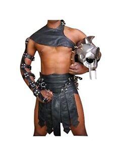 LARP Real Leather Gladiator Kilt Set for Men Costumes Halloween Heavy Hardware