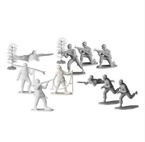 A set of plastic toy play soldiers Mountain troops miniature