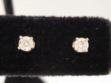 14K YELLOW GOLD 0.20 ROUND CUT DIAMOND STUD EARRINGS