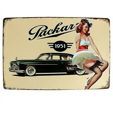 LEGS 1951 Packard Car Automobile Retro Vintage Metal Shed Garage Sign UK STOCK