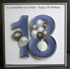 Personalised Handmade Balloons 18th Birthday Card Son Grandson Godson Nephew